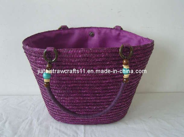 Purple Straw Beach Bags (ZF-3809)