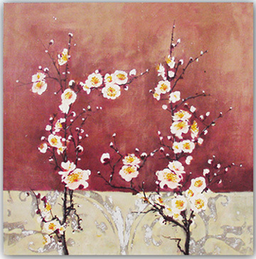 Wall  Canvas on Hand Brush Stroke Canvas Oil Painting Wall Art   Floral Plum Blossom