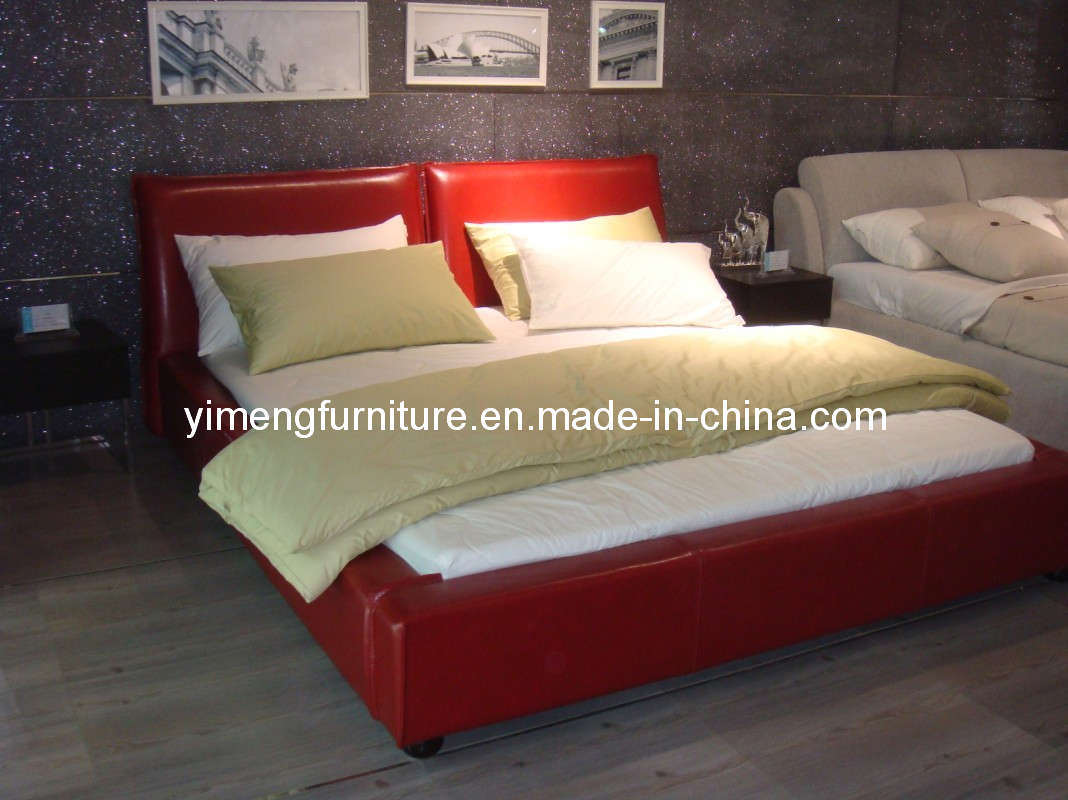 China Bedroom Furniture Leather Bed P 0941 China Bedroom Furniture Bed