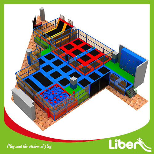 China TUV Certified Olympics Trampoline Park with Foam Pit and Foam Jump