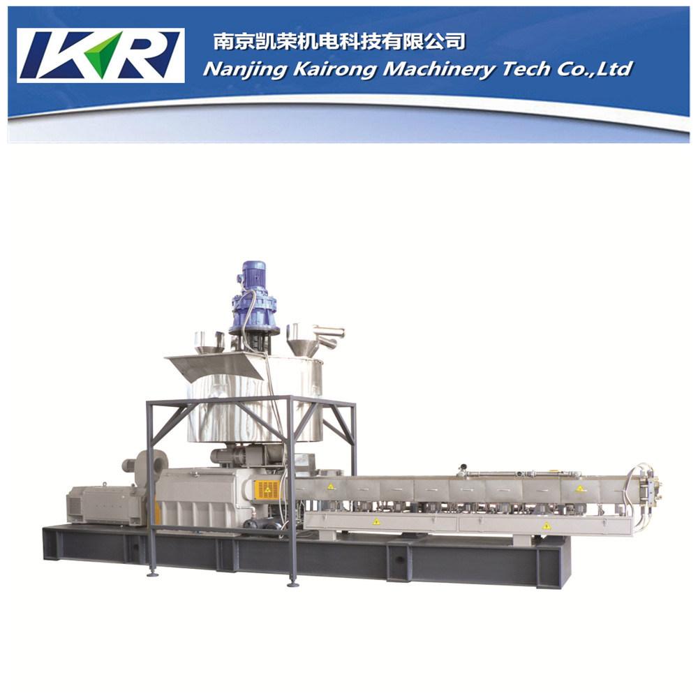 Nanjing Plastic Granules Pelletizing Twin Screw Plastic Extruder Machine Price