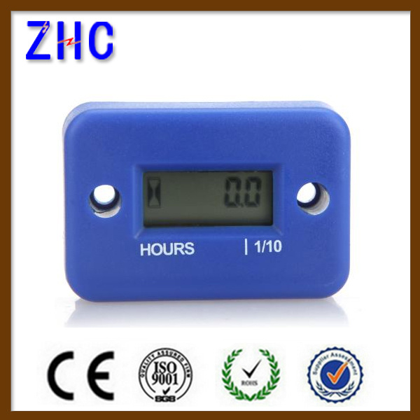 Waterproof IP68 Digital LCD Display Engine Hour Meter 12V