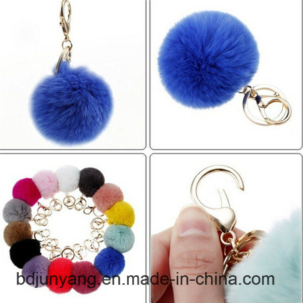 Fashion Real Rabbit Fur Ball for Woman Bags