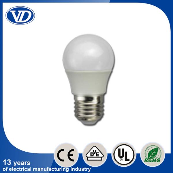 E27 Plastic Covering Aluminium LED Bulb