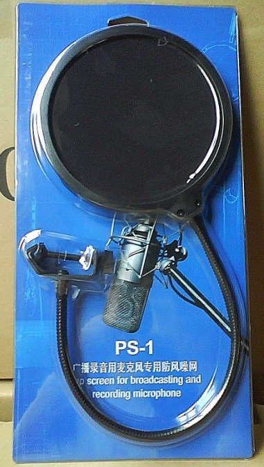 PS-1 Professional Microphone Windproof Screen Mask Recording Studio Accessory Pop Filter
