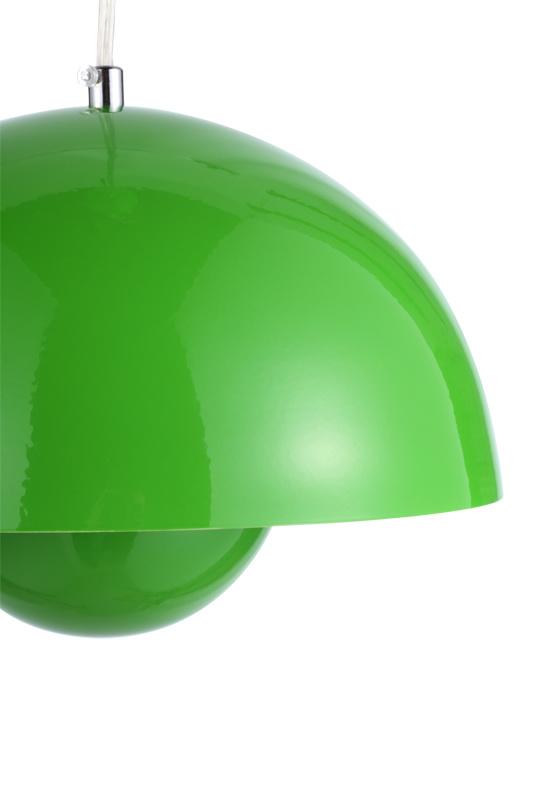 Green Steel Flower Pot Semi-Sphere Suspension Lamp