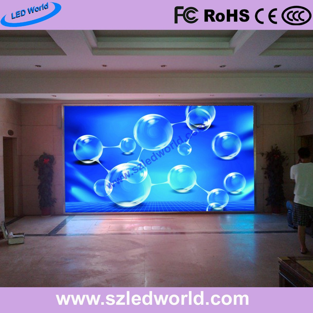 P3, P6 Indoor/Outdoor Rental LED Video Wall Display Screen Panel