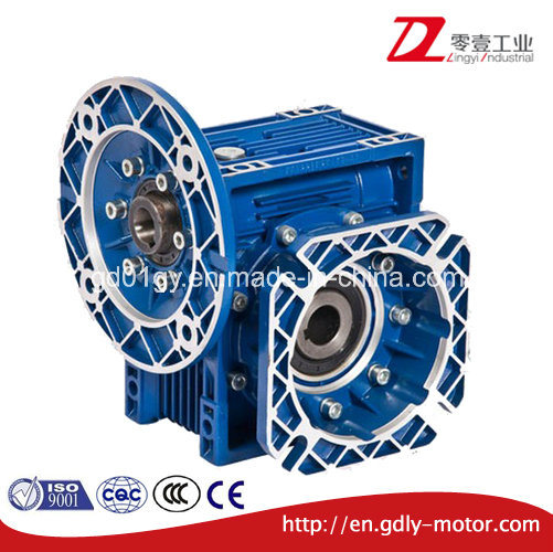 Dia Cast Aluminum Worm Gear Speed Reduce Gearbox with Big Flange