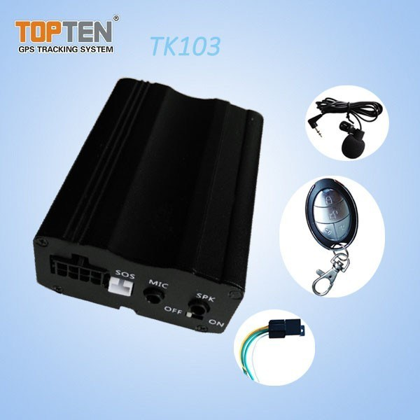 GPS Car Alarm with Door Open Alert, Remotely Cutoff Engine Tk103-Ez