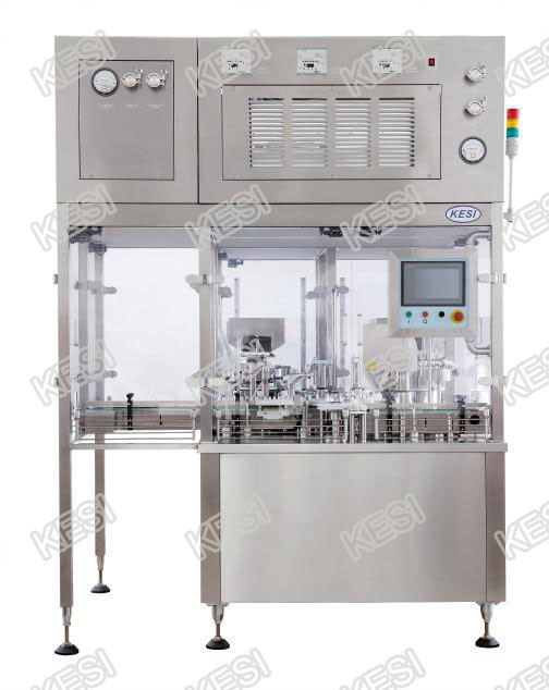 Injectable Vial Filling, Stoppering and Capping Machine