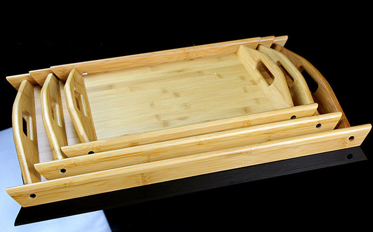 2016 Wooden Pallets Full Bamboo Tea Tray Mat with Binaural