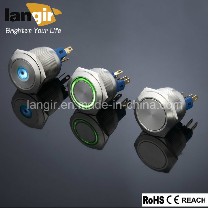 Langir Bi-Color LED Push Button Switch (16mm, 19mm, 22mm, 25mm, 30mm)
