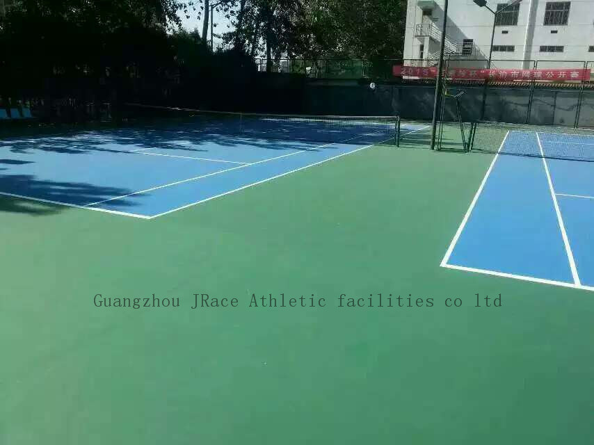 UV Resistance Spu Rubber Tennis Court Field