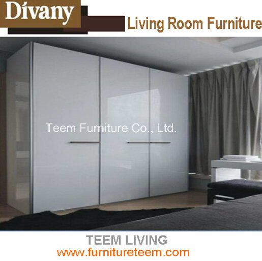 2015 Modern Furniture Bedroom White Wood Wardrobe