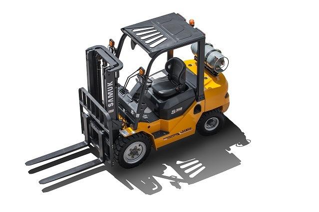 Gasoline-LPG Duel Fuel Forklift with Sideshifter