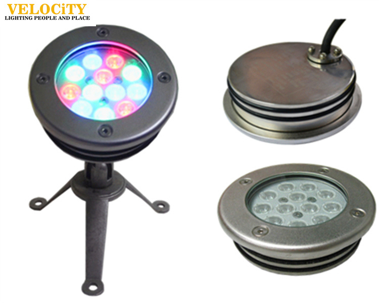 24V Ce Approved RGB Swimming Pool IP68 Stainless Steel LED Underwater Light