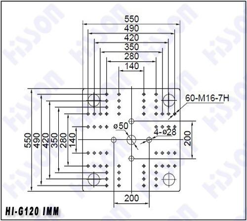 120t Plastic Injection Moulding Machine Hi-G120