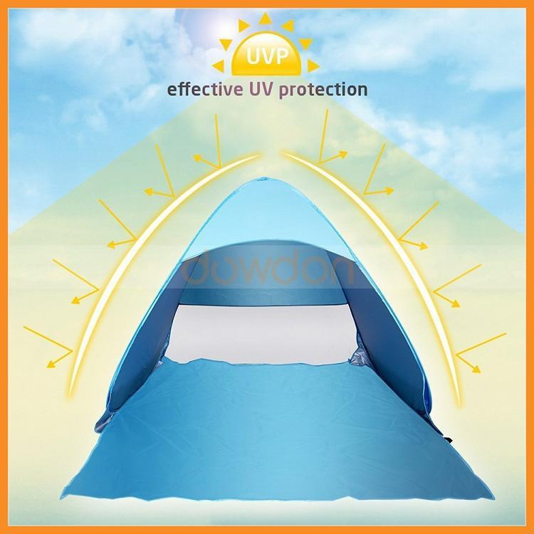 Outdoor Camping Ultralight Instant Pop up Family Baby Pop up Beach Sun Shelter Tent
