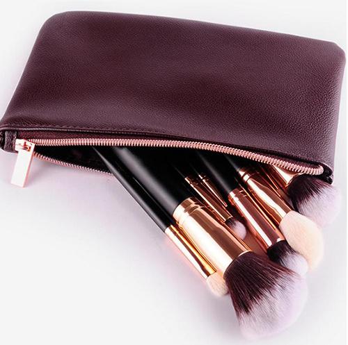 8 PCS Cosmetic Tool Luxury Rose Golden Makeup Brush Set