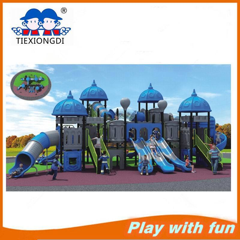 2016 Wenzhou Factory Commerical Kids Plastic Slide Outdoor Playground Equipment