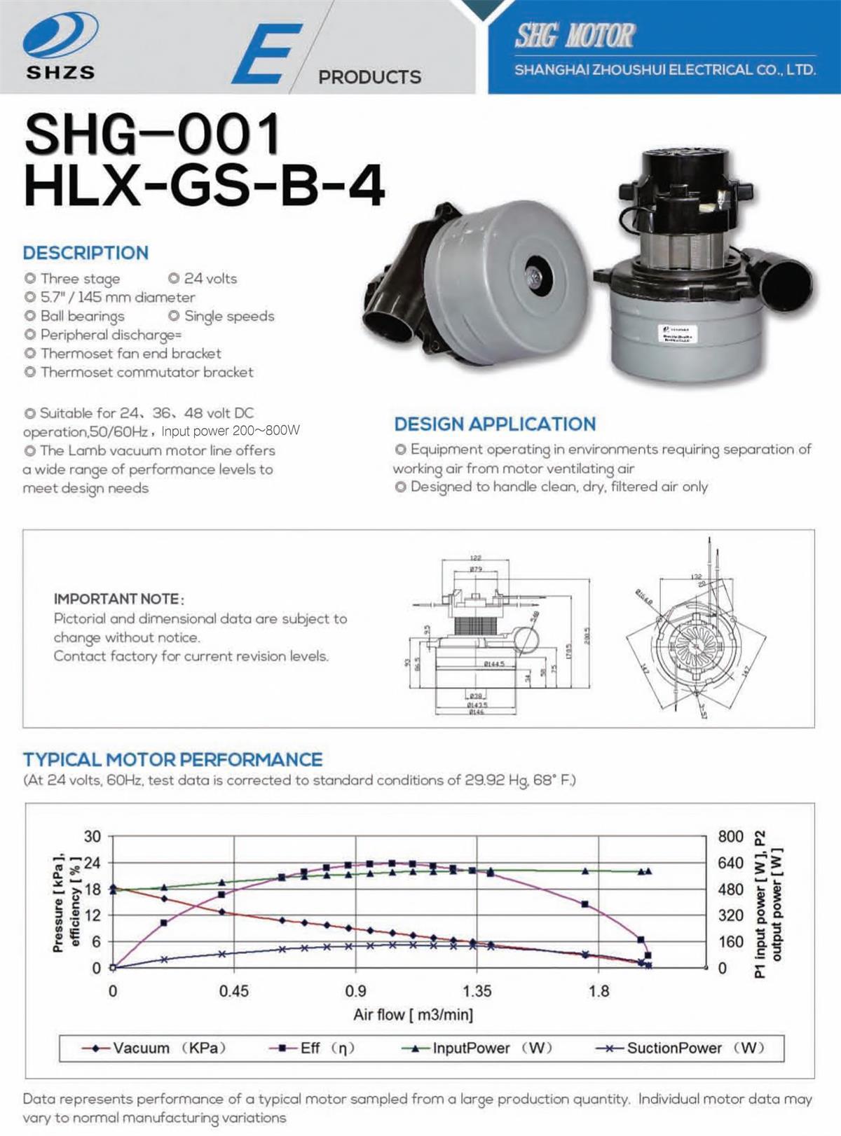 Long Life Vacuum Motor (SHG-001)