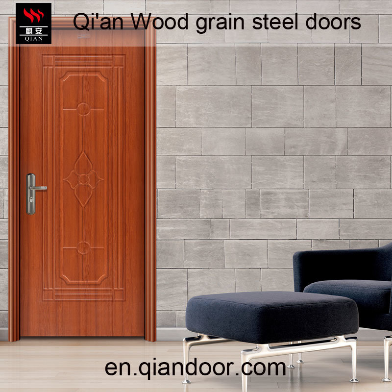 Black Walnut Heat Transfer Print Steel Door