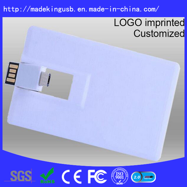 Plastic OTG Business Credit Card Shape USB Flash Drive