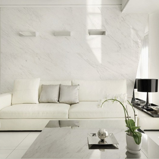Polished White Artificial Interior Wall Stone Decoration