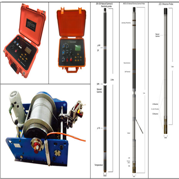 Slimhole Logging, Electric Logging System, Well Logging Equipment, Well Logging Tool, Geologging, Water Well Logging for Sale