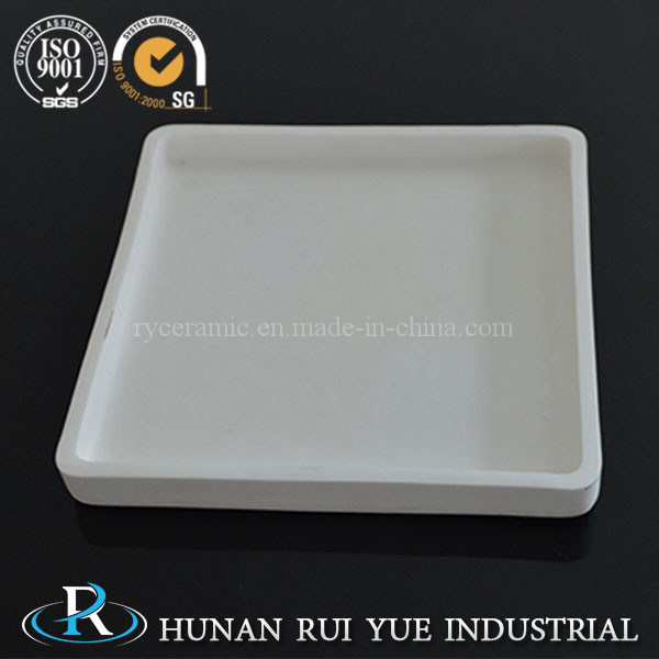 High Temperature Alumina Corundum Square Crucible Boat