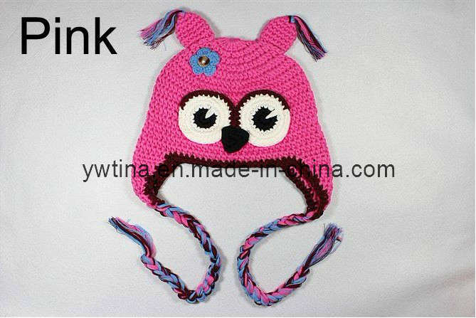 Cartoon Knitting Patterns : China Pink Cartoon Pattern Knitting Hat for Baby Photos & Pictures - Made...