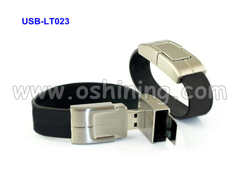 Leather Bracelet USB Flash Memory (USB-LT023)