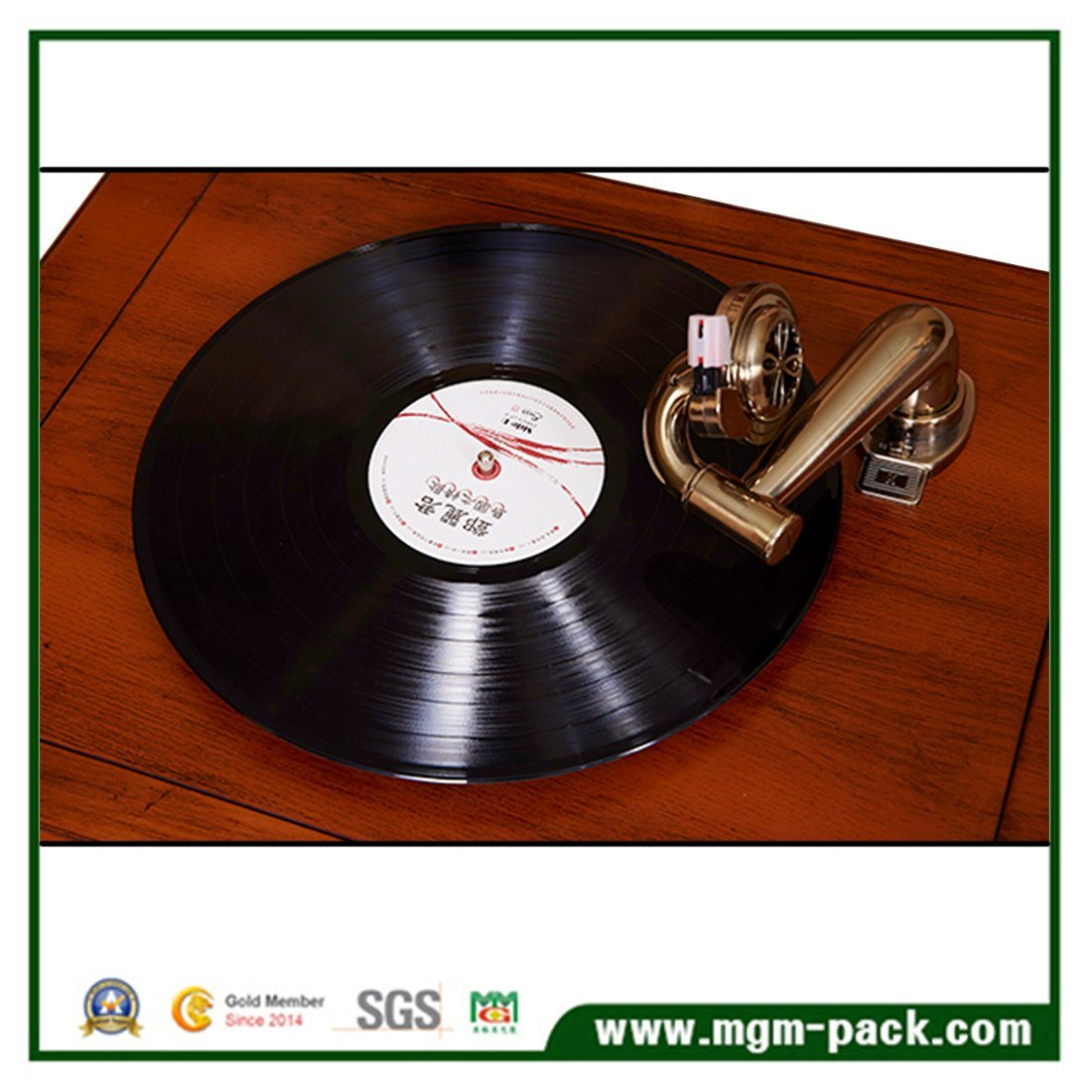 High Quality Classical Wooden Phonograph with CD