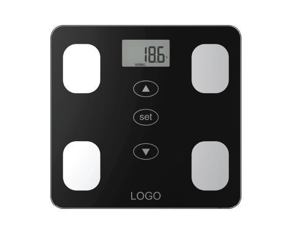 Glass Platform Electronic Body Fat Scale with Full Plastic Base