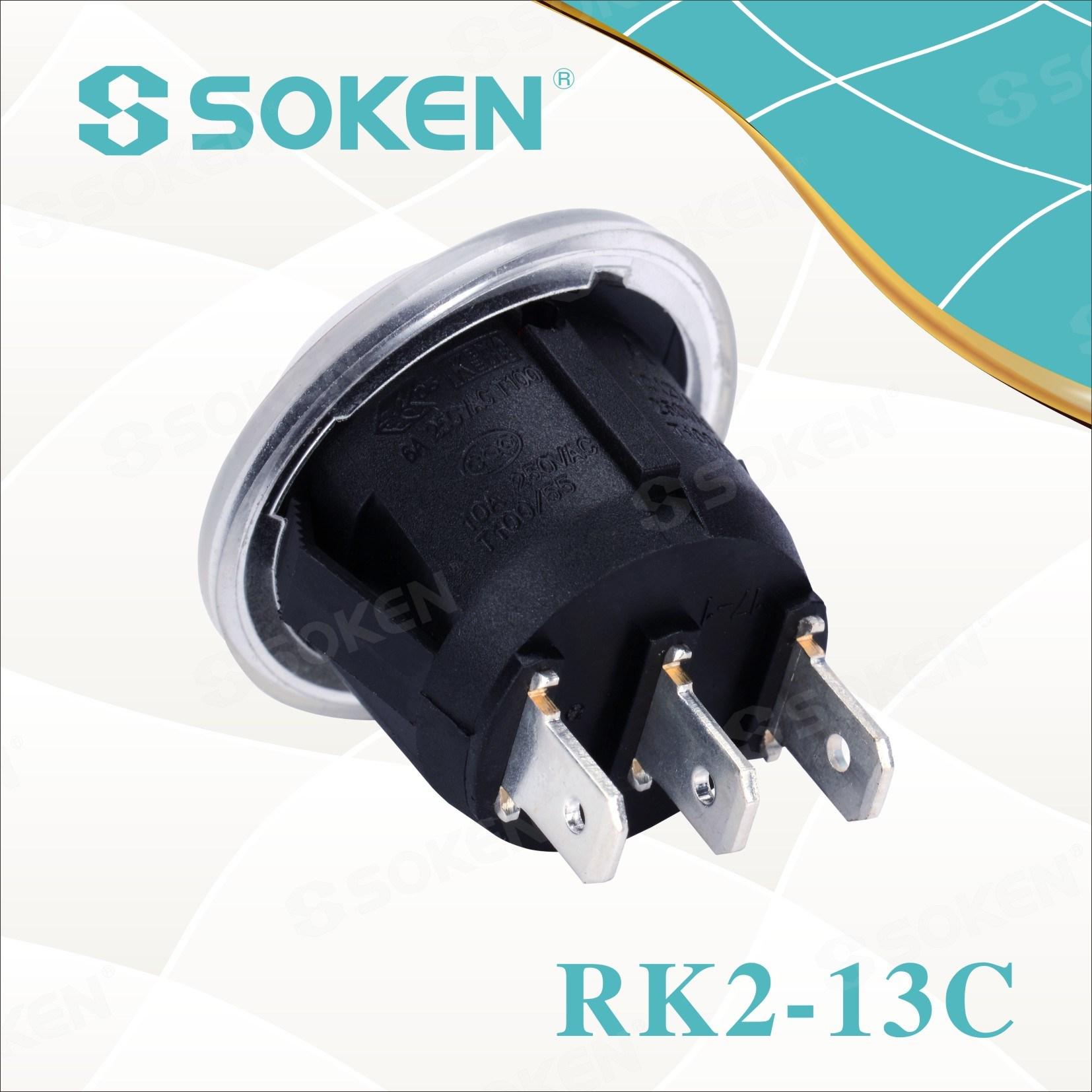 Soken Rk2-13c Round Waterproof Rocker Switch