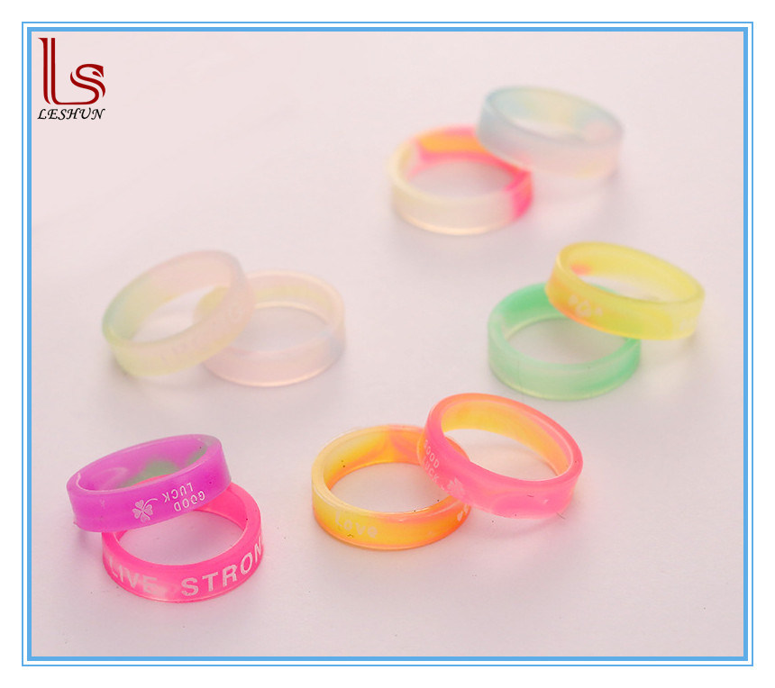 Wholesale Jewelry Glow in Dark Cheap Custom Silicone Wedding Ring