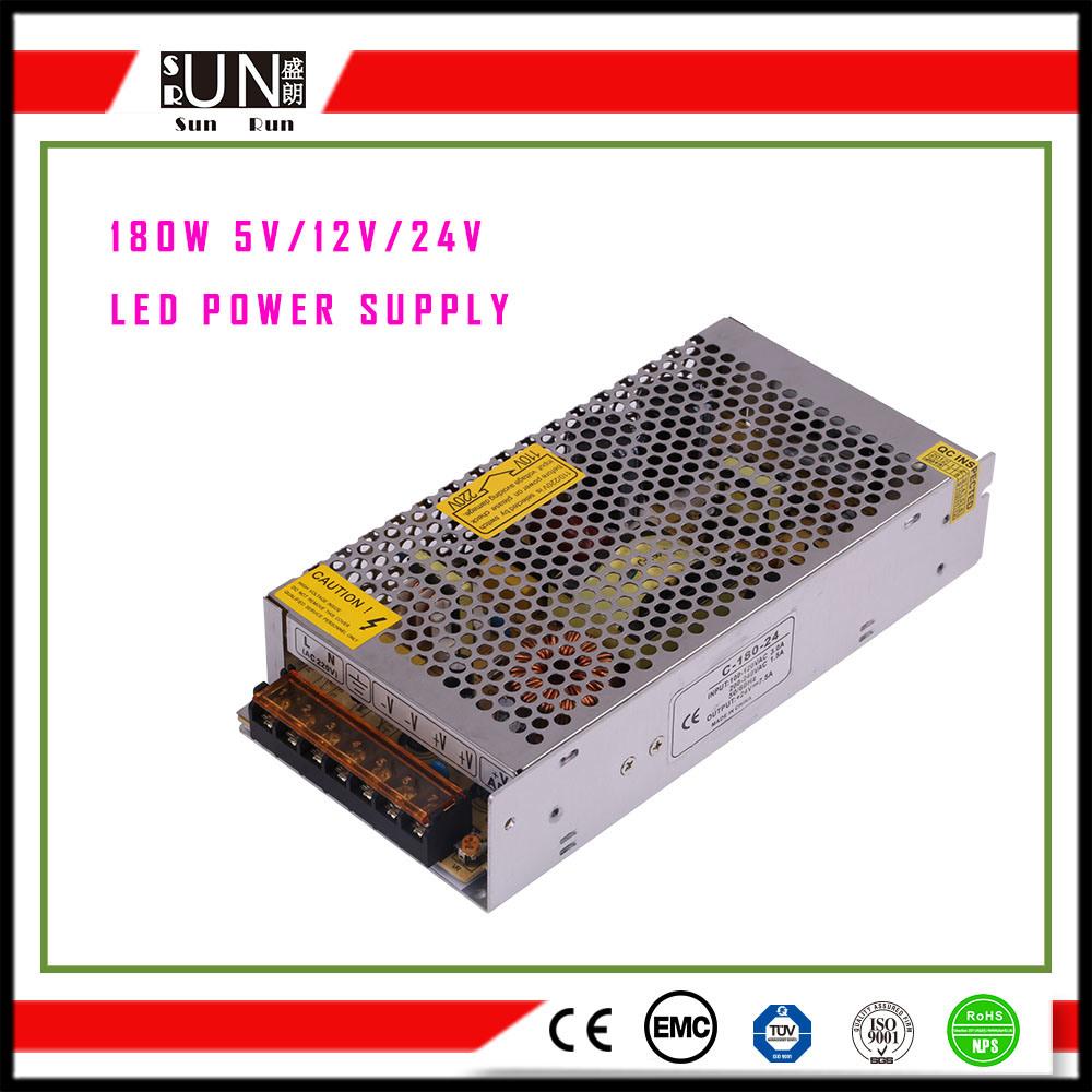 180W LED Power Supply, DC12V DC48V DC24V LED Driver, Constant Voltage 12V LED Driver, Constant Voltage 24V LED Driver