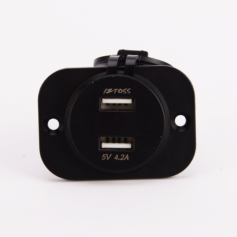 Car Dual USB Charger Socket Power Outlet with Voltmeter