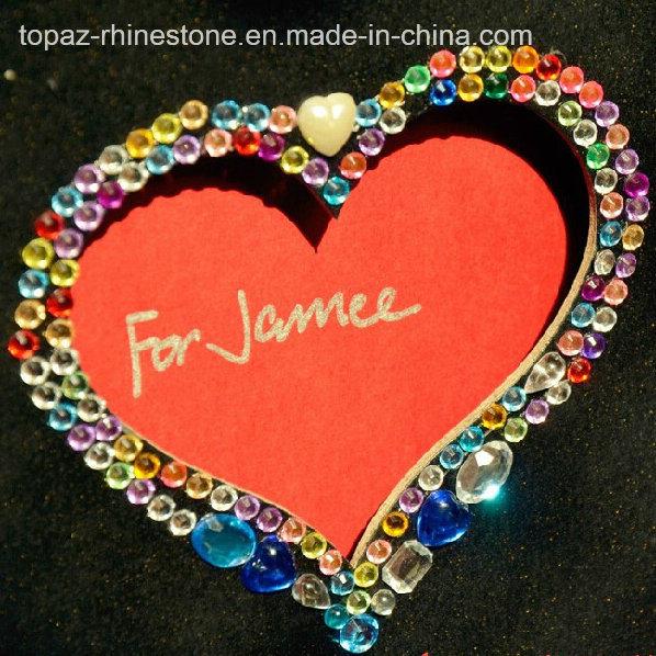 Heart Crystal Sticker Rhinestone Epoxy Sticker for Book