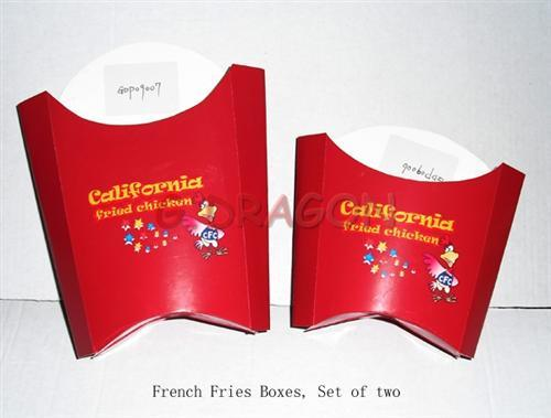 French Fry Scoop Cardboard Box (GD-FFB005)