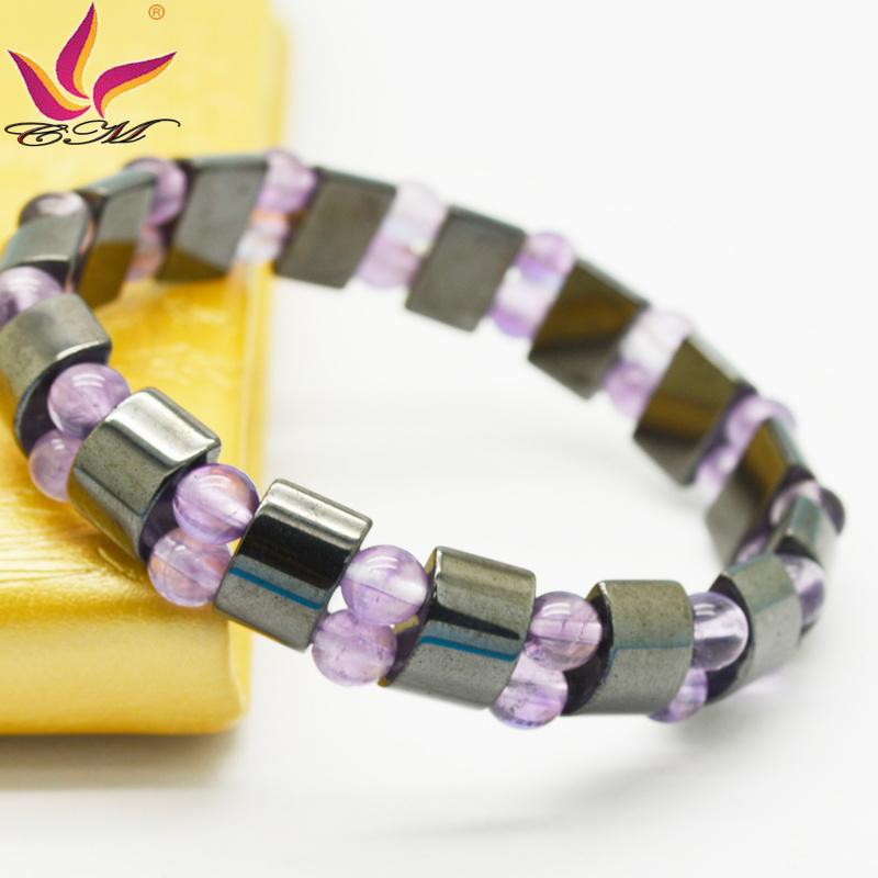 Htb-111black Magnetic with Rose Quartz Bracelet