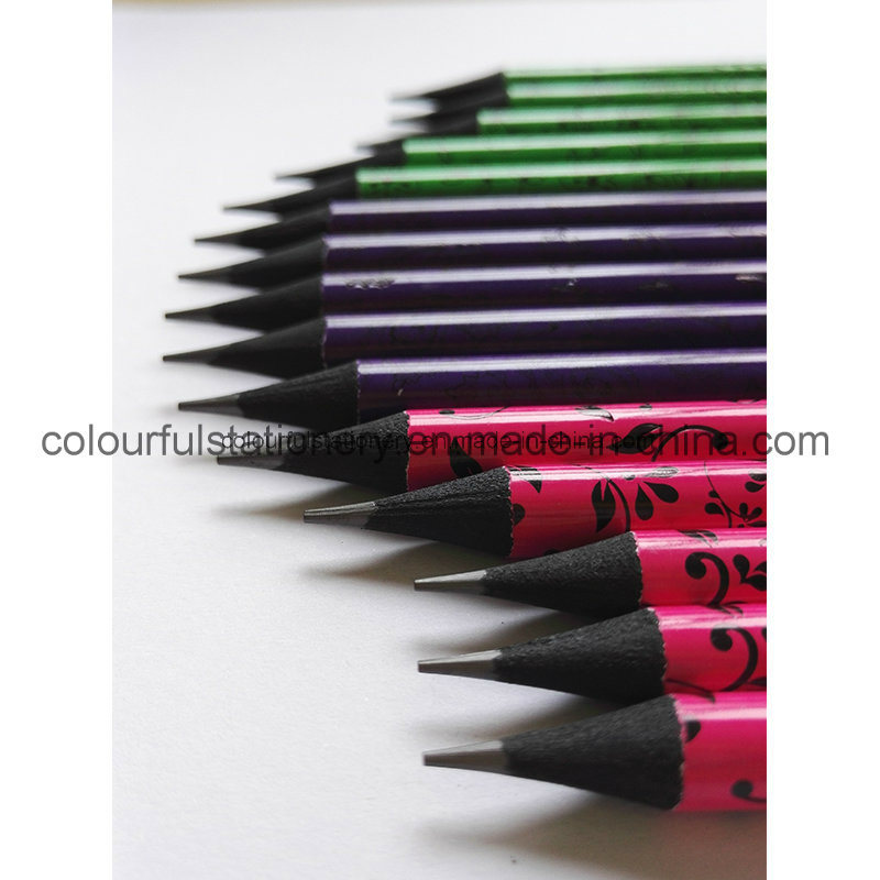 OEM Design Black Wood Pencils with Eraser