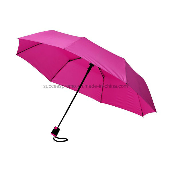 Promotional 21′′ 3-Section Auto Open Folding Umbrella