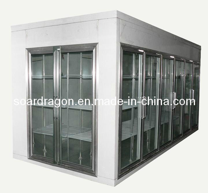 Supermarket Glass Door Display Walk in Cooler (customized)