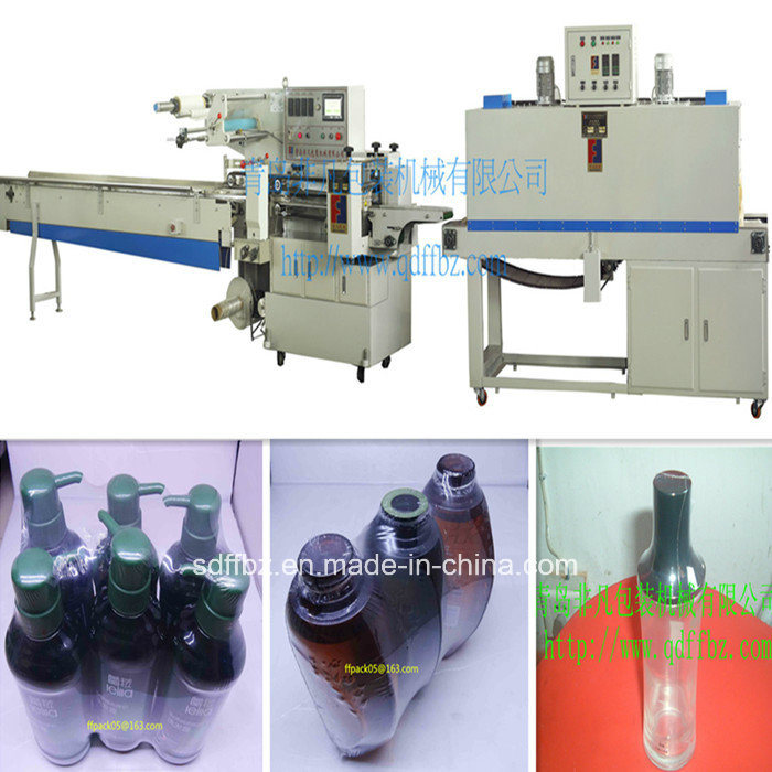 Omron Servo Motor Automatic Shampoo Bottle Flow Shrink Packaging Machine
