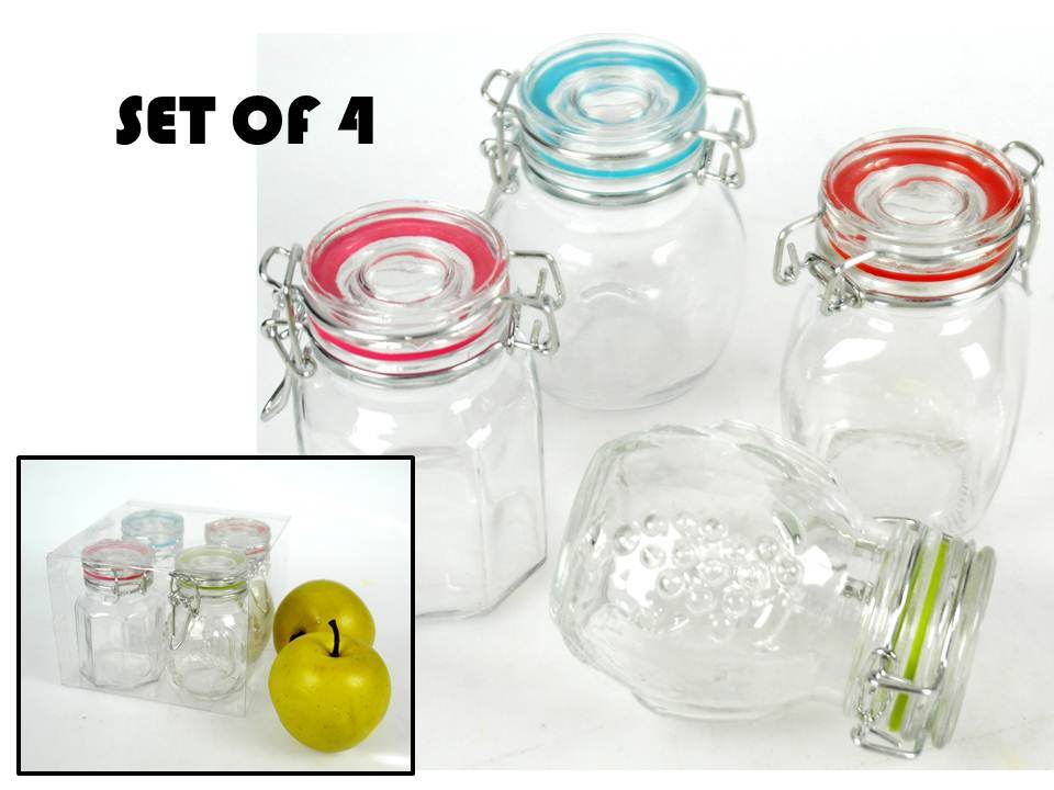 100ml Mini Glass Jar with Clip Top