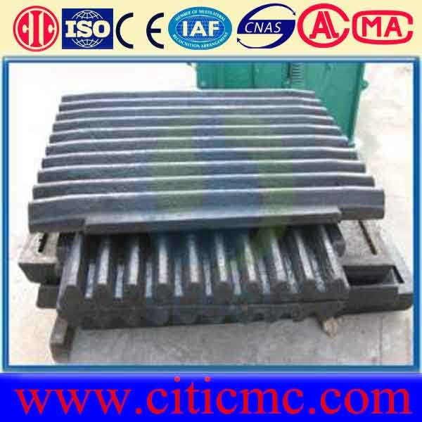 Metso Jaw Crusher Spare Parts for Jaw Plate