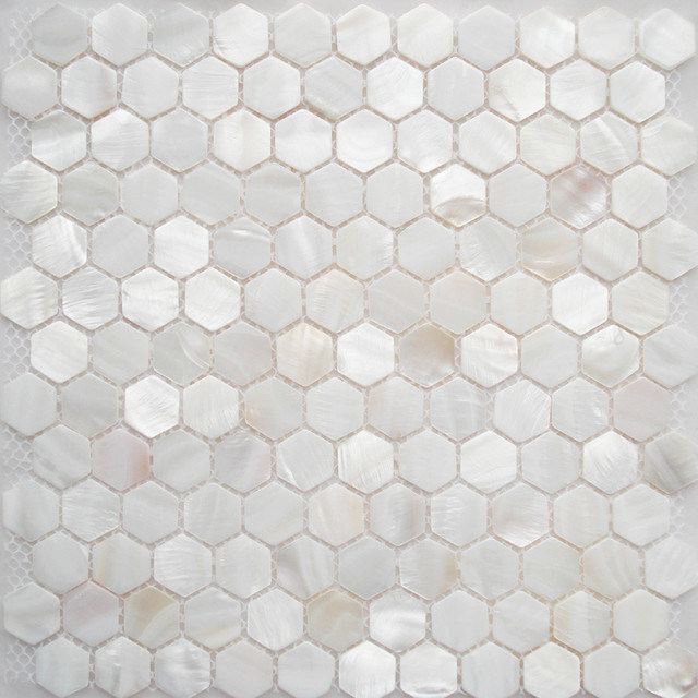 Shell Tile Mother Of Pearl Tiles Bathroom Wall