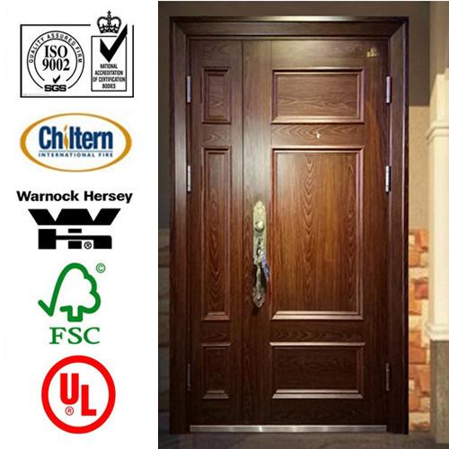 Entrance Solid Wooden Door for Villa/Wood Dool/ Solid Wooden Door