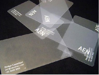 China Clear Plastic Business Card China Plastic Business